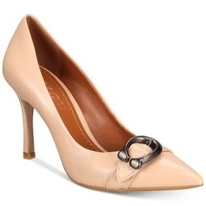 NWT COACH Waverly Signature Buckle Pumps